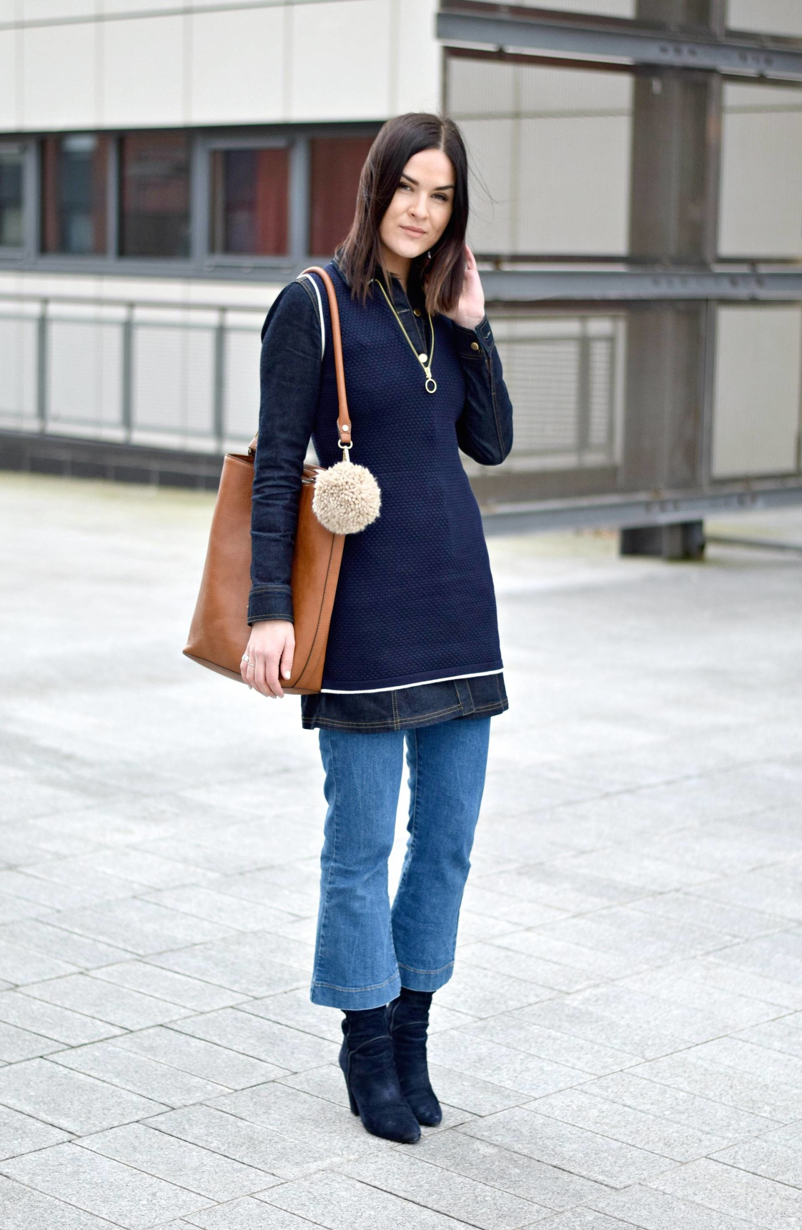 70s denim flare kicks & retro waistcoat - LAFOTKA Fashion BLogger 5