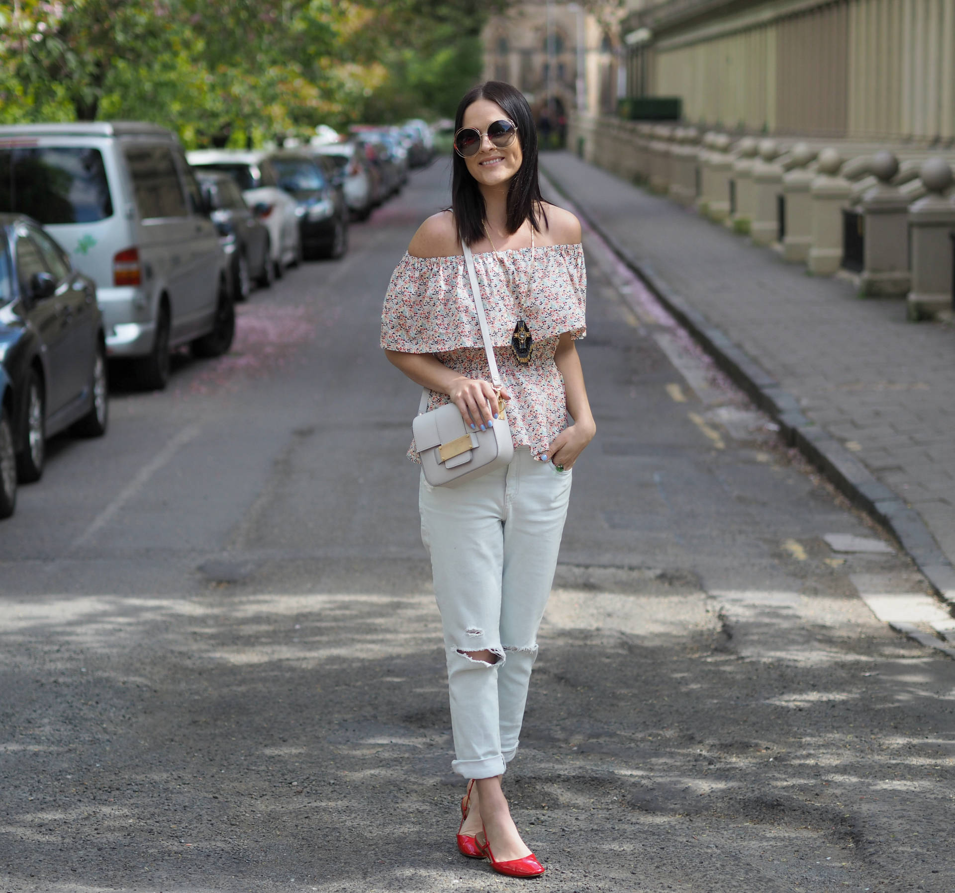 Off the Shoulder top styling - LAFOTKA Fashion Blogger