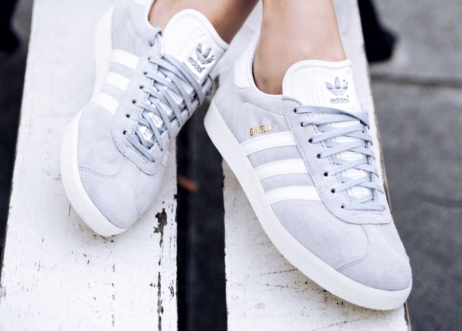 adidas grey gazelle sneakers