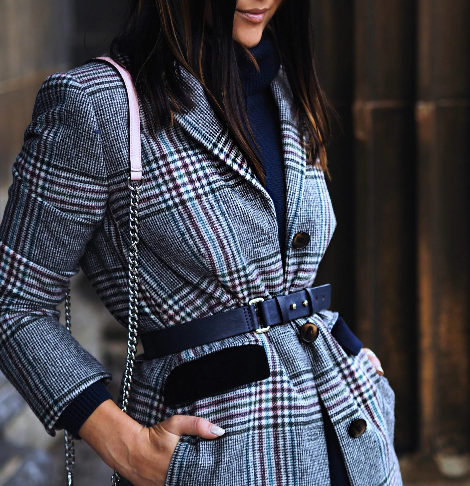 718015a41 CHECK HER OUT IN BODEN CHECKED COAT AND TRENDIEST PRINT