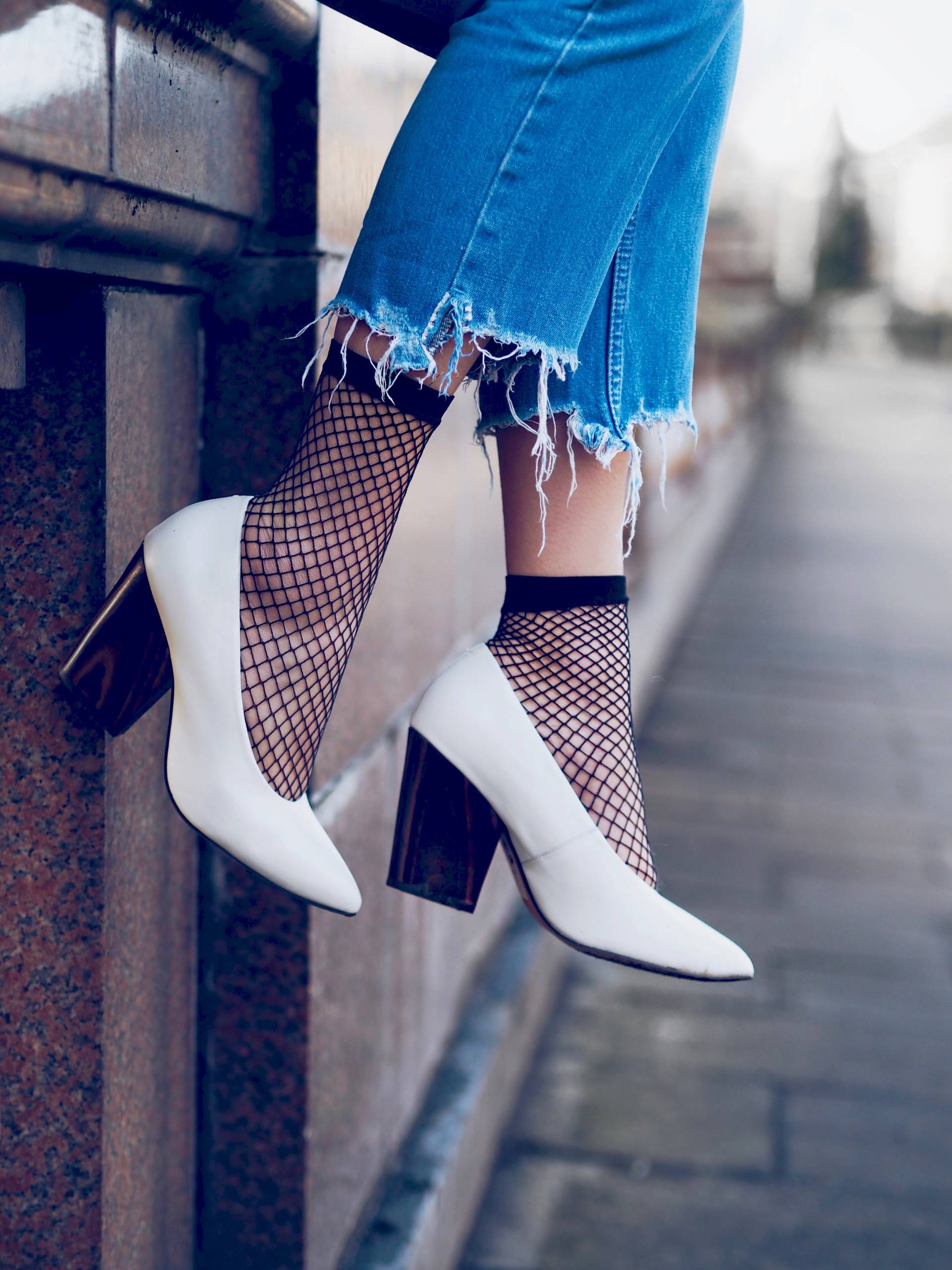 Image result for would you wear fish net with heels