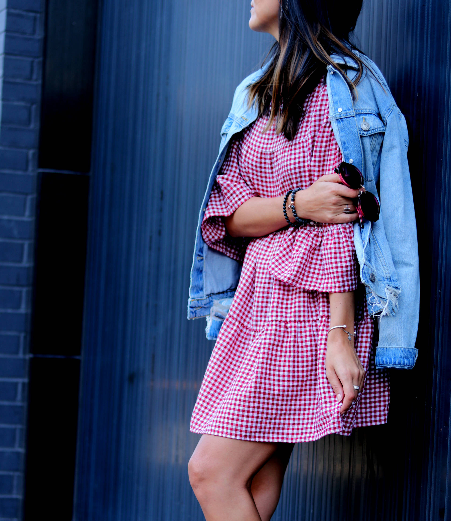 LAFOTKA HENRI BENDEL BAG GINGHAM DRESS