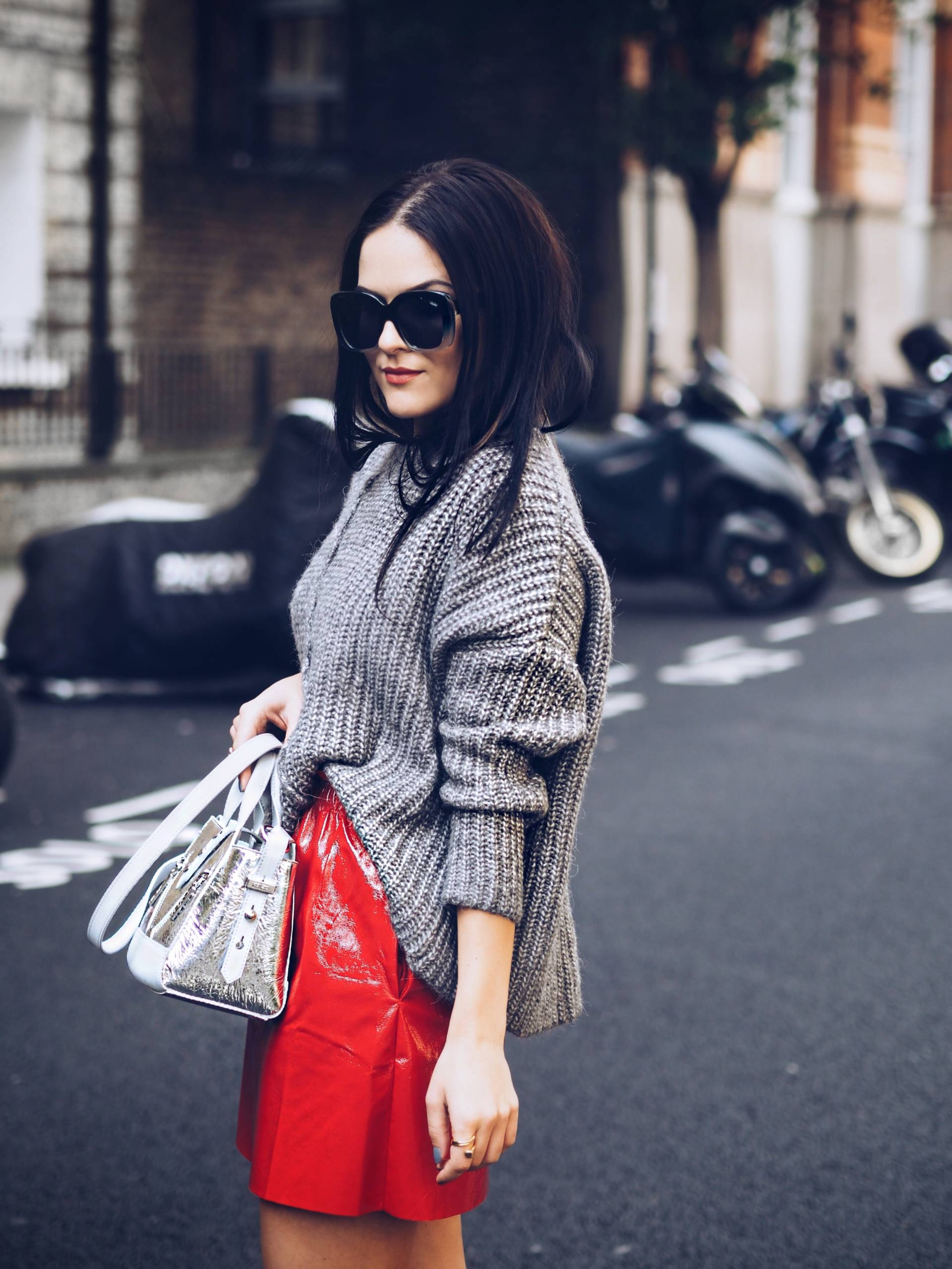 Patent-red-skirt-styling-London-Fashion-Week-street-style-LAFOTKA-BLOGGER