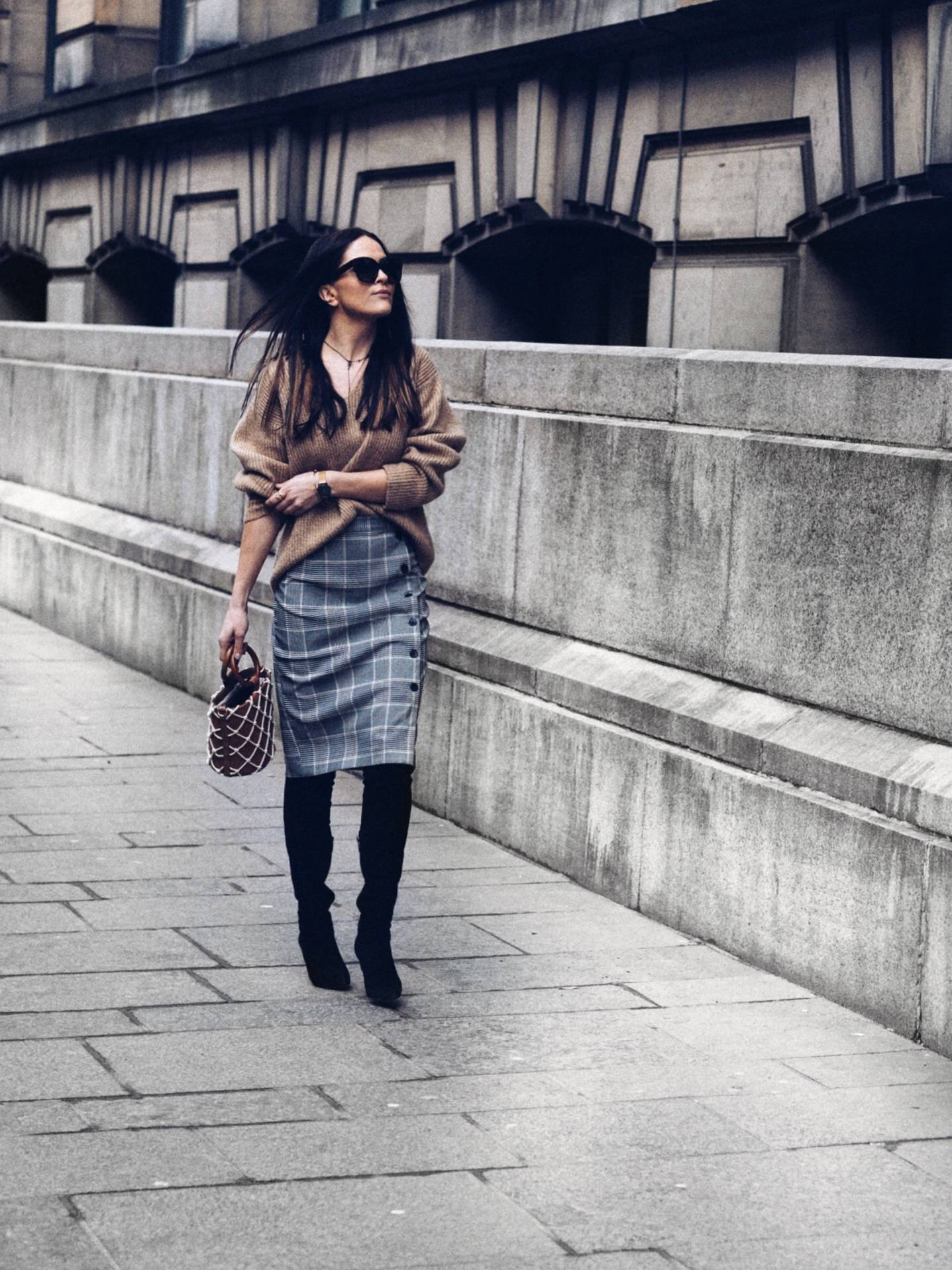 Check-wrap-midi-skirt-street-styling-SCOTLAND-Glasgow-blogger-LAFOTKA