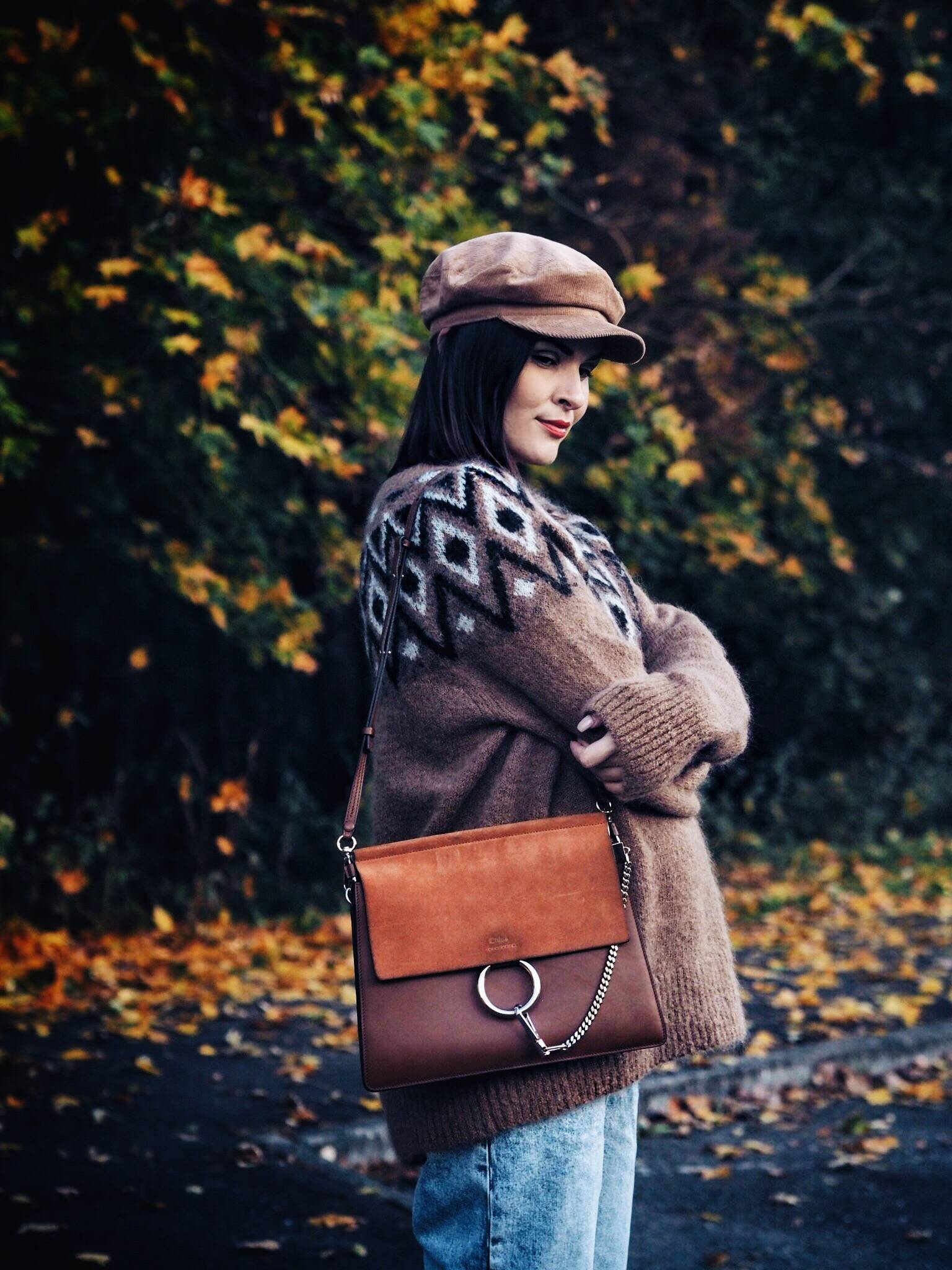 Autumn-pregnancy-style-street-style-corduroy-and-cosy-knit-UK-fashion-blogger-Glasgow-LAFOTKA